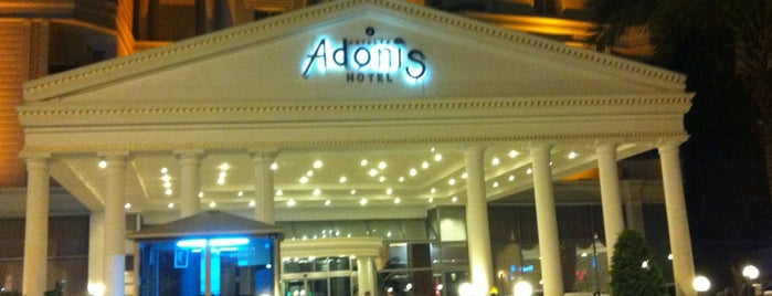 Adonis Hotel is one of Antalya Etiket Bonus Mekanları 🌴🍁🍃.