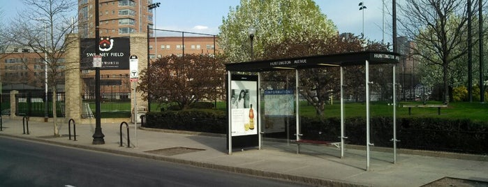 MBTA Bus Stop -  Ruggles St @ Huntington Ave (8/9/19/22/28/39/47/192/CT2/CT3/9701/9702/9703) is one of Home.