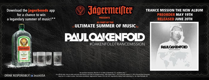 Sunshine Theater is one of Paul Oakenfold Jagermeister Presents.