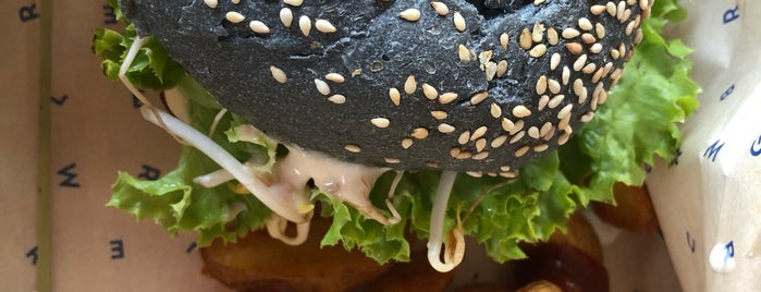 Flower Burger is one of vegan options.