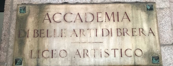 Accademia di Belle Arti di Brera is one of Lieux qui ont plu à Hamilton.
