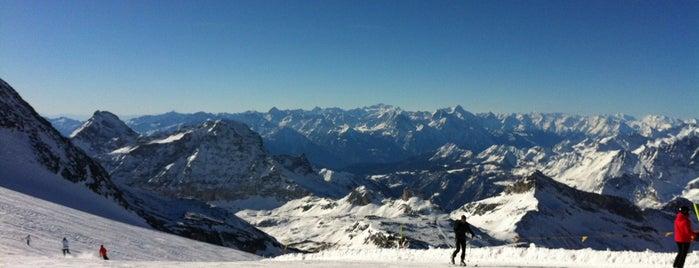Breuil Cervinia is one of Dove sciare.
