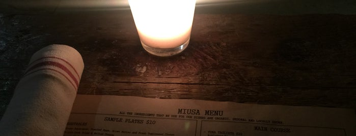MIUSA Wine Bar is one of Places to go back to..