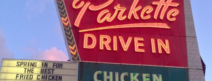 The Parkette Drive-In is one of Diners, Drive-Ins, & Dives.