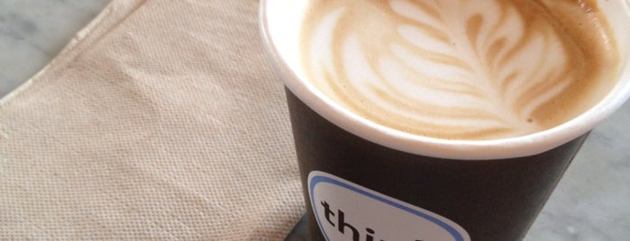 Think Coffee is one of NYC  cafe / coffee lovers (esp soy milk drinkers).