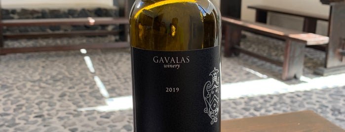 Gavalas Winery is one of Santorini.