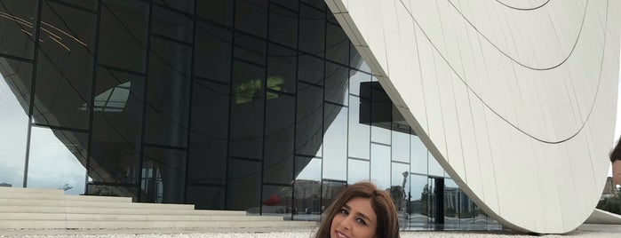 Zaha  Hadid's Masterpiece is one of Baku.