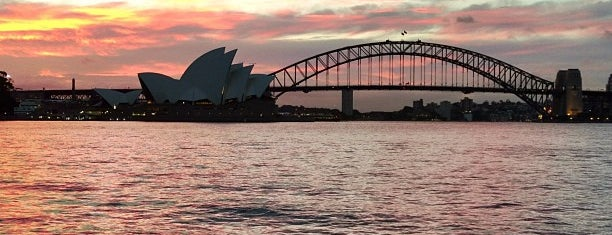 Mrs. Macquarie's Point is one of Down under? I hardly know her!.