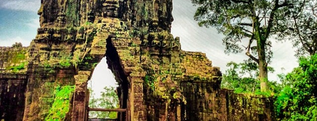 Angkor Thom South Gate is one of Angkor Archaeological Park Highlights.