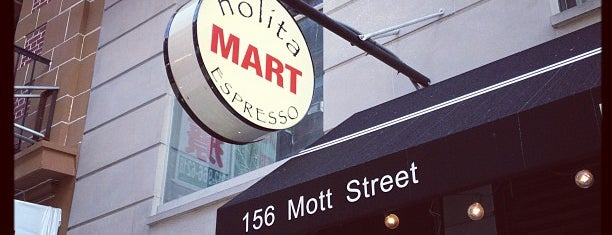 Nolita Mart & Espresso Bar is one of NYTimes Coffee List.