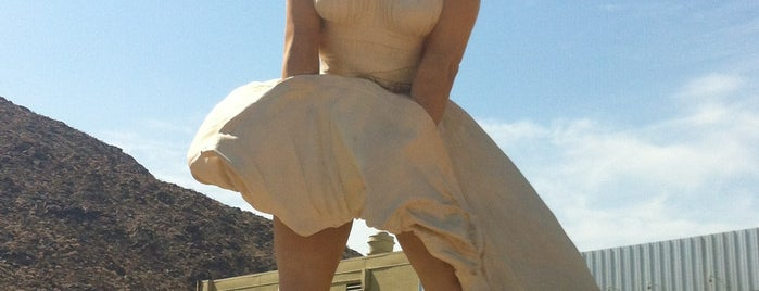 """Forever Marilyn"" Sculpture is one of Palm Springs."