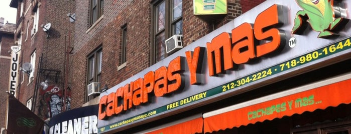 Cachapas y mas is one of Food @ NYC.