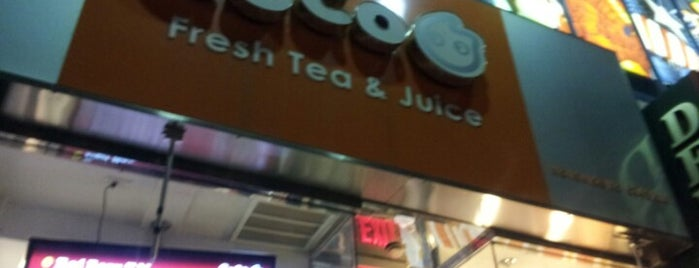 CoCo Fresh Tea & Juice is one of Sweet New York Times.