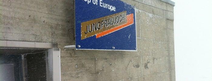 Bahnhof Jungfraujoch is one of Tempat yang Disukai Burcu.