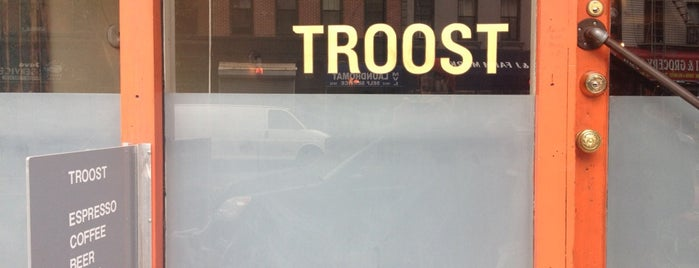Troost is one of NYC Nights: Ales, beers, cocktails & night affairs.