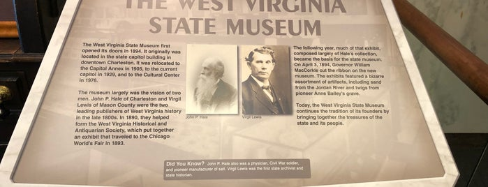 West Virginia State Museum is one of West Virginia.