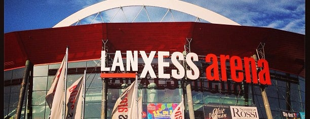 LANXESS arena is one of Lugares favoritos de Sebastian.