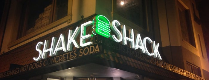 Shake Shack is one of Trudy's list.