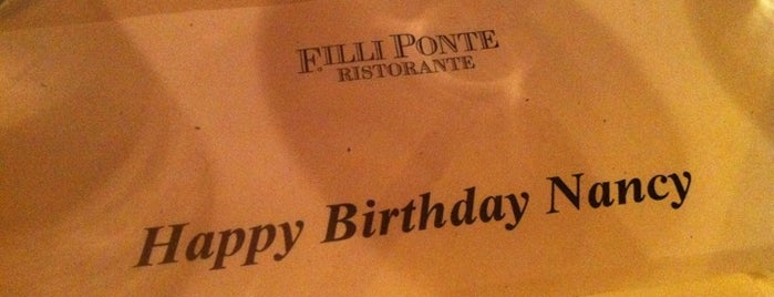F.illi Ponte is one of NYC Restaurant Week Uptown.
