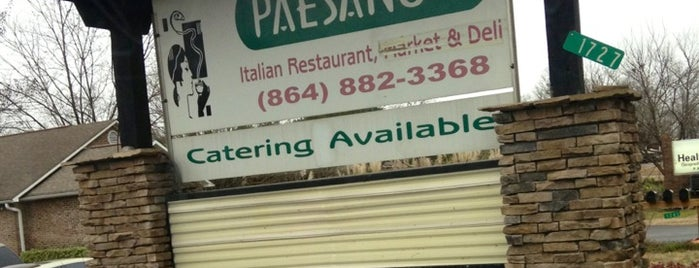 Paesano's Italian Restaurant is one of Lugares guardados de Joshua.