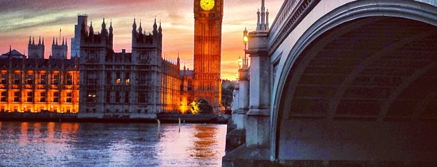 Palace of Westminster is one of London, UK.