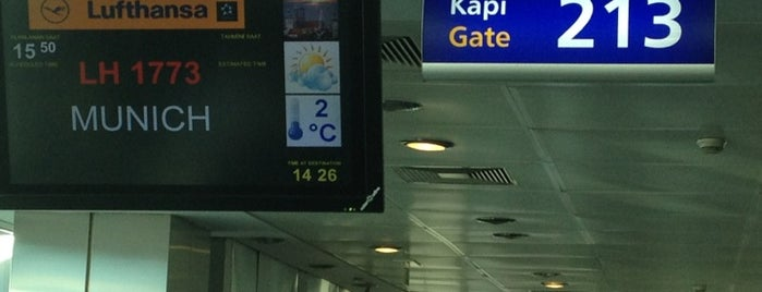 Gate 213 is one of İstanbul Atatürk Airport.
