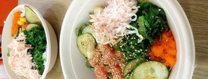 Poké Signature is one of New Work Lunch.