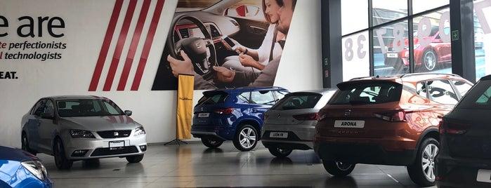 Seat Pirineos Motors (Vallejo) is one of Tempat yang Disukai Adriana.