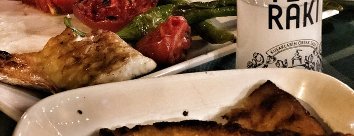 Rasim'in Yeri Balık Restaurant is one of Tempat yang Disukai Emre Koray.