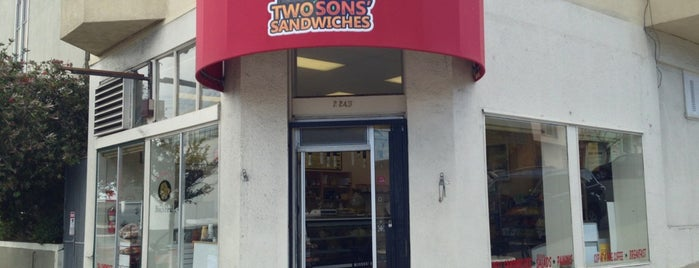 Two Sons Sandwiches is one of Potrero Hill/East Mission Stuffz.