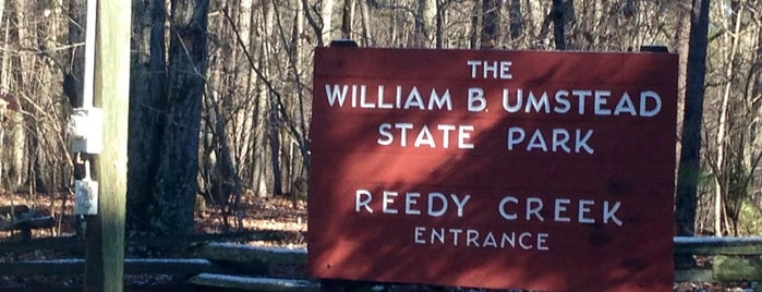 William B Umstead State Park - Reedy Creek Entrance is one of Trudy's list.
