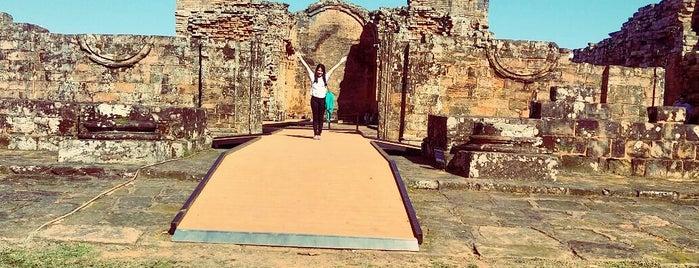 Misiones Jesuíticas Guaraníes  Jesus de Tavarangue is one of UNESCO World Heritage Sites in South America.