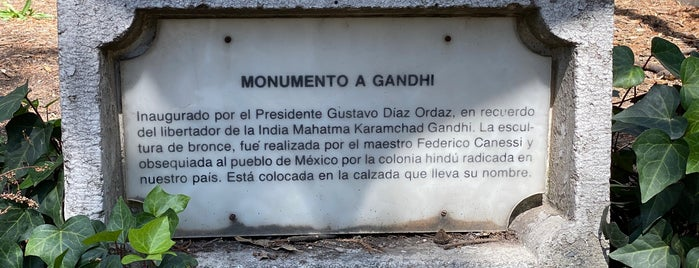 Monumento a Gandhi is one of CDMX.