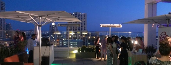 Andaz Rooftop Lounge is one of Us. san diego.