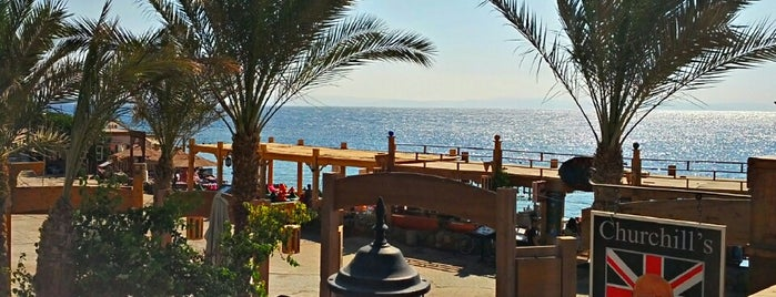 Churchill Bar at Red Sea Relax is one of Tempat yang Disukai Helene.