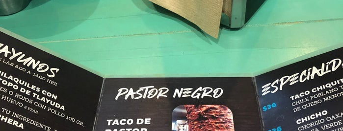 Pastor Negro Taqueria is one of Barabara.