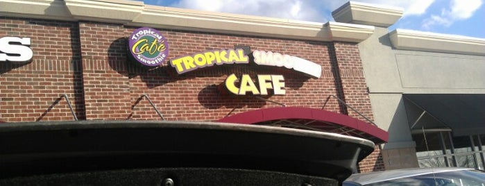 Tropical Smoothie Cafe is one of Tempat yang Disukai Mark.