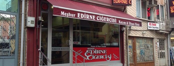 Meşhur Edirne Ciğercisi Kazım ve İlhan Usta is one of Edirne.