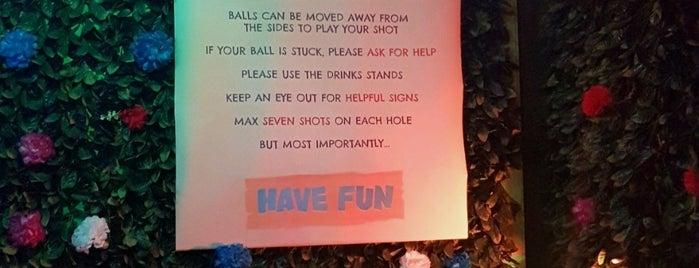 Plonk Crazy Golf Shoreditch is one of Londinium III 🎩⚽️.