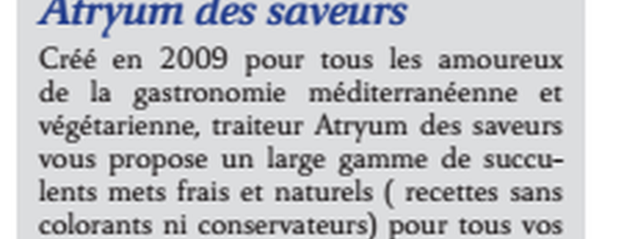 Atryum des Saveurs is one of The Next Big Thing.