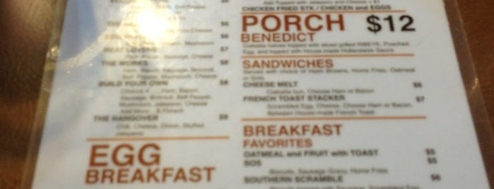 The Porch is one of FW Magazine 30 Best Breakfast Places.