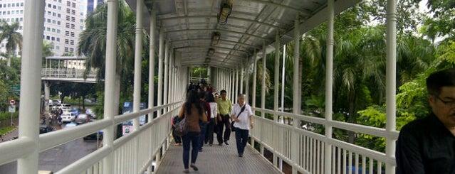 Halte TransJakarta Dukuh Atas 2 is one of Jakarta. Indonesia.