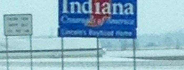 Indiana Ohio State Line is one of Posti che sono piaciuti a Andrew.