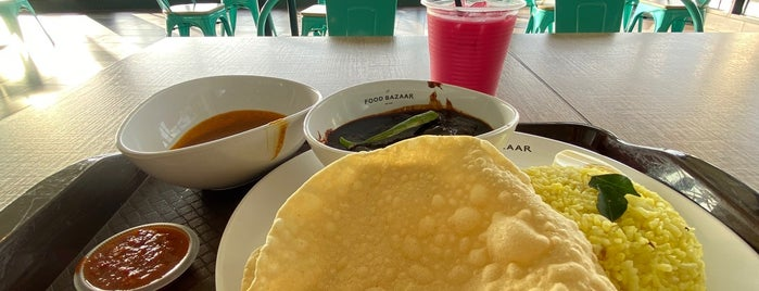 Food Bazaar @ Design Village Mall is one of Tempat yang Disukai Alyssa.
