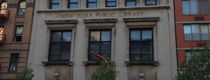 New York Public Library - 96th Street Library is one of NYC Manhattan East 65th St+.