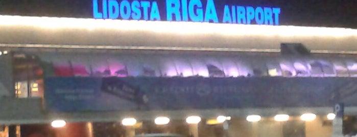 Riga International Airport / Starptautiskā lidosta Rīga (RIX) is one of Official airport venues.
