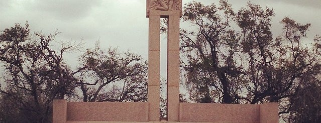 Col Fannin Burial/Memorial site is one of Goliad, TX.