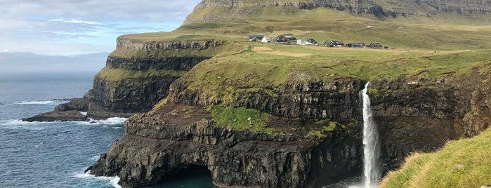 Gásadalur is one of Faroe Island.
