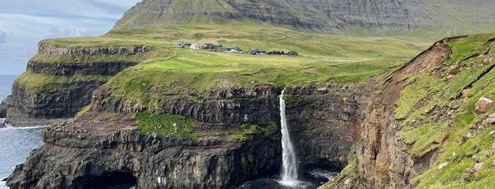 Múlafossur is one of Faroe Islands.