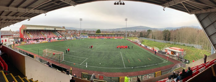 Solitude, Cliftonville FC is one of Belfast.